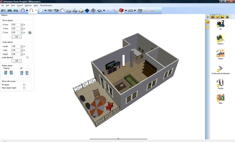 Rapidshare Home modeling software