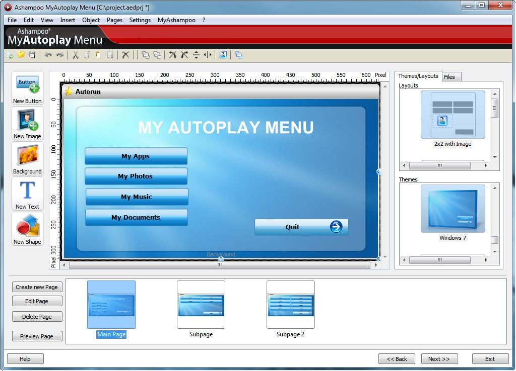 Ashampoo MyAutoplay Menu Screenshot