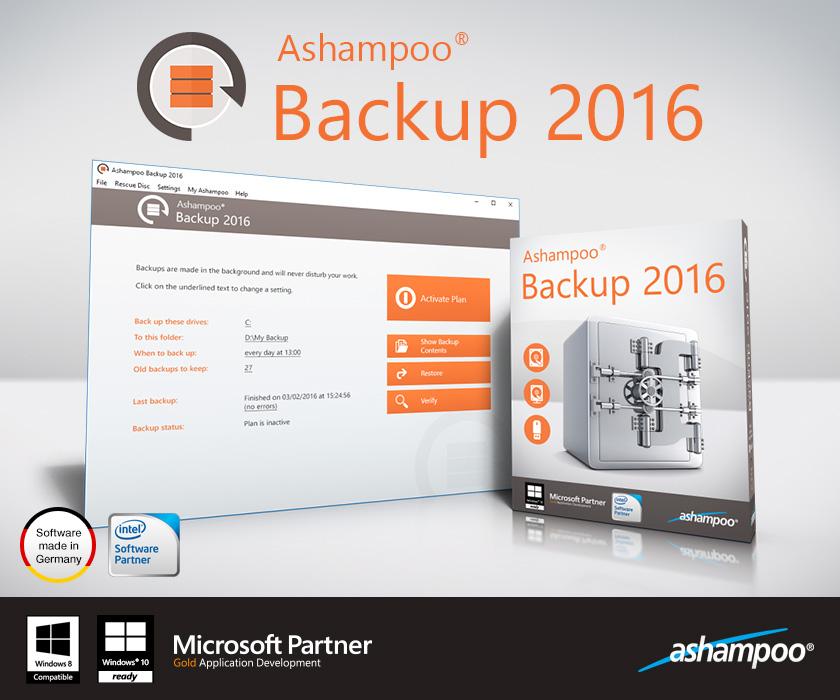 scr ashampoo backup 2016 presentation start en - Ashampoo Backup 2016 Yedekleme Programı - Kampanya