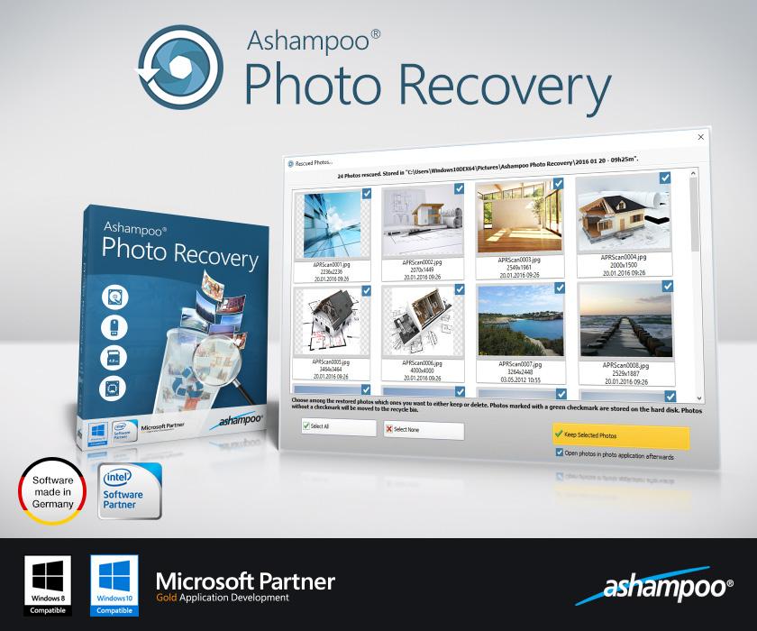 Ashampoo Photo Recovery, fotoğraf kurtarma, resim kaydetme, EXIF, Photo Recorver