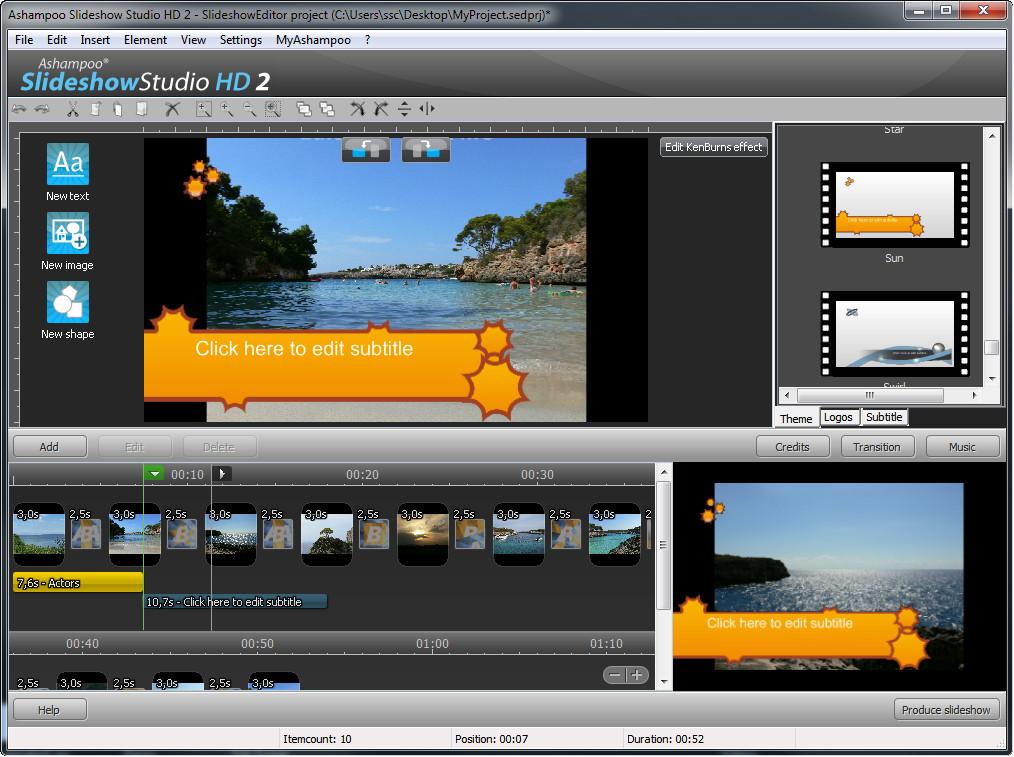 Ashampoo sideshow studio hd 2 v2.0.5 te