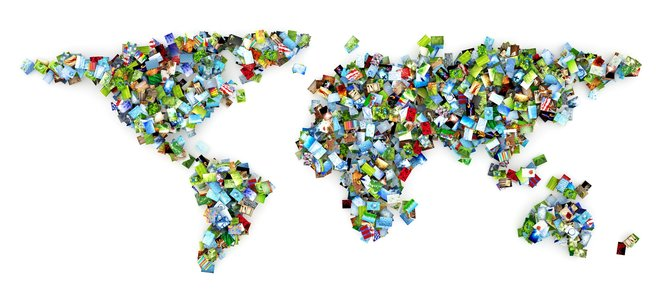Die Welt aus Bildern gebaut