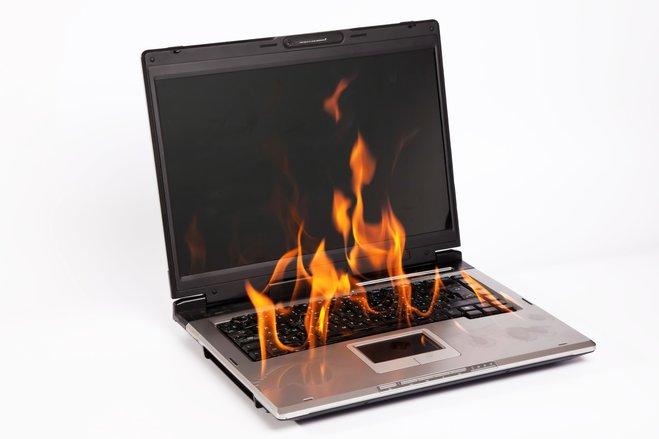 ein falscher Klick, schon geht der Rechner in Flammen auf