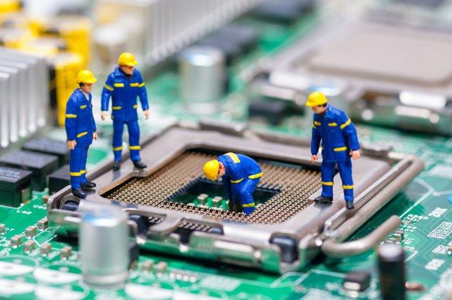 Processor maintenance work is under way
