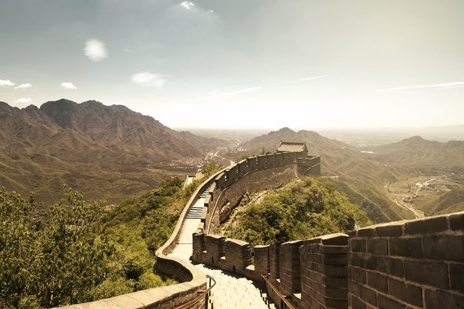 Bereit zum Sprung über die Chinesische Mauer