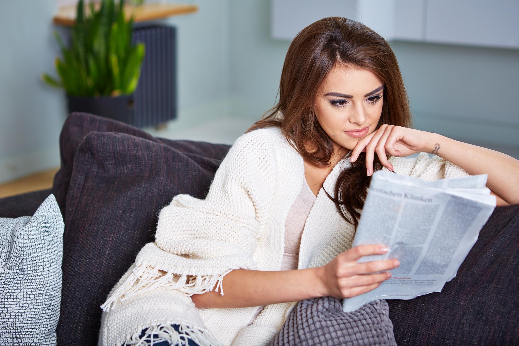 Entspannt Zeitung lesen - was gibt es Schöneres?