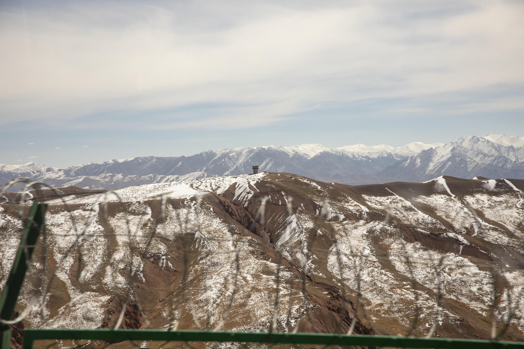 The closely-guarded border between Kyrgyzstan