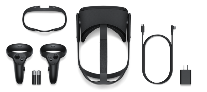 Der Lieferumfang der Oculus Quest
