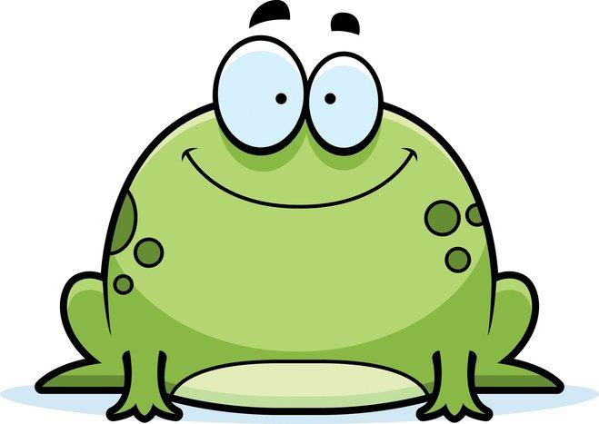 Der Frosch lächelt - der Betrachter weniger...