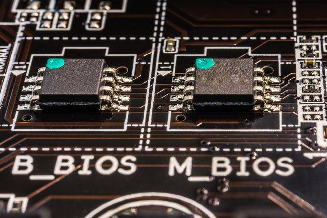 So unscheinbar sehen BIOS-Chips aus