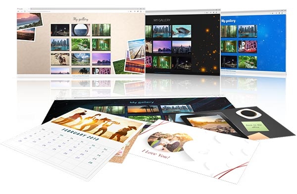Screenshot photo commander slideshows card calendars