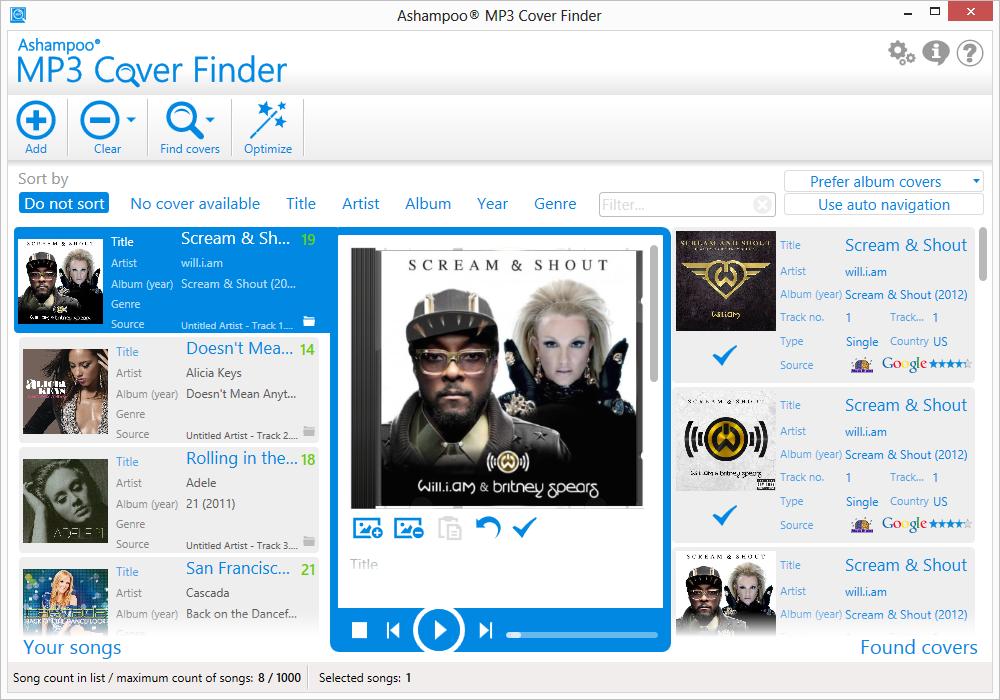 Ashampoo� MP3 Cover Finder - Generalidades