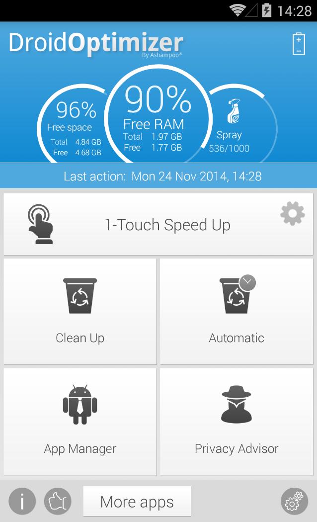 Ashampoo® Droid Optimizer - Overview