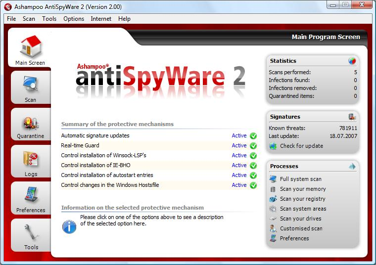 Utilities, Security, AntiSpWare