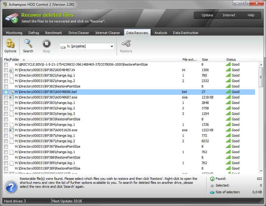 Ashampoo HDD Control 2.10 لمراقبة أداء الحاسوب