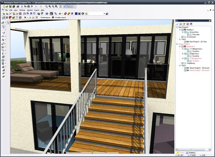 Ashampoo home designer pro 1 0 1 con licenza progetta e for Progetta la mia casa dei sogni