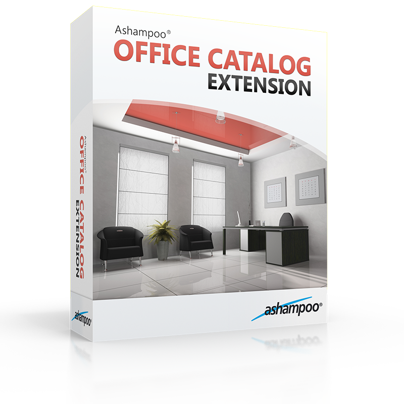 Ashampoo office catalog extension overview for 3d office planner
