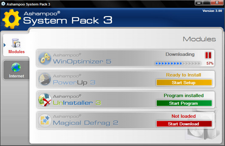 Click to view Ashampoo System Pack 3 3.0 screenshot