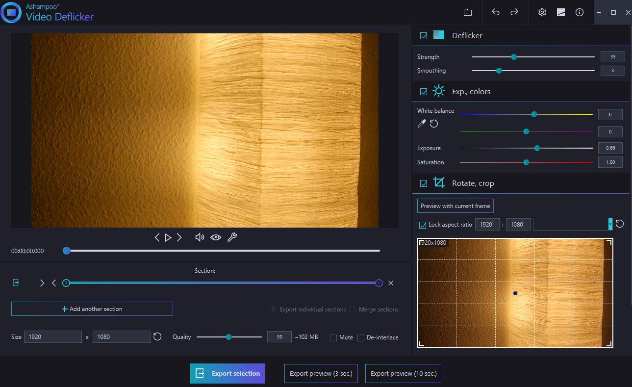 Ashampoo Video DeFlicker screenshot