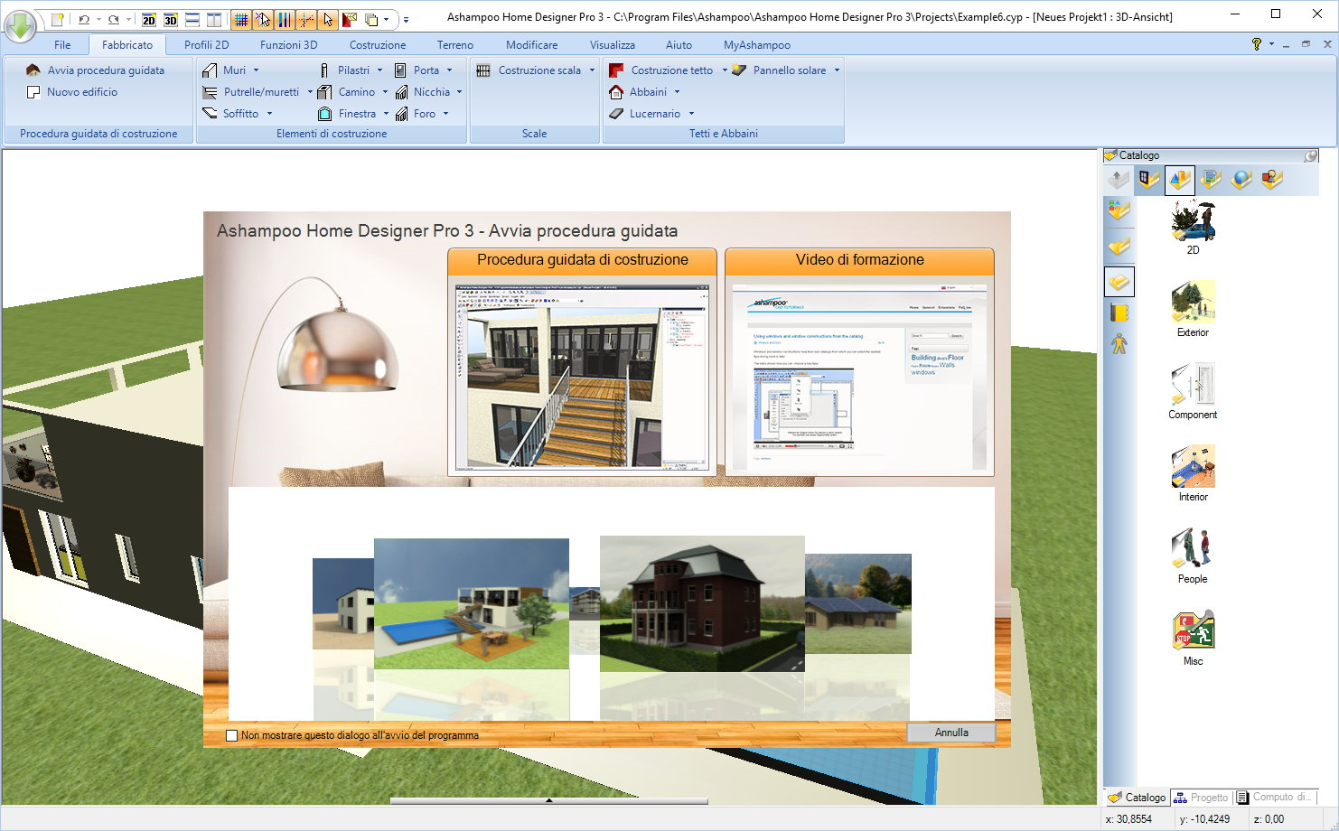 ashampoo home designer pro 3 panoramica
