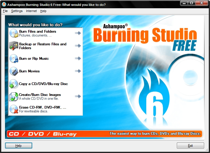 Click to view Ashampoo Burning Studio 6 FREE 6.80 screenshot