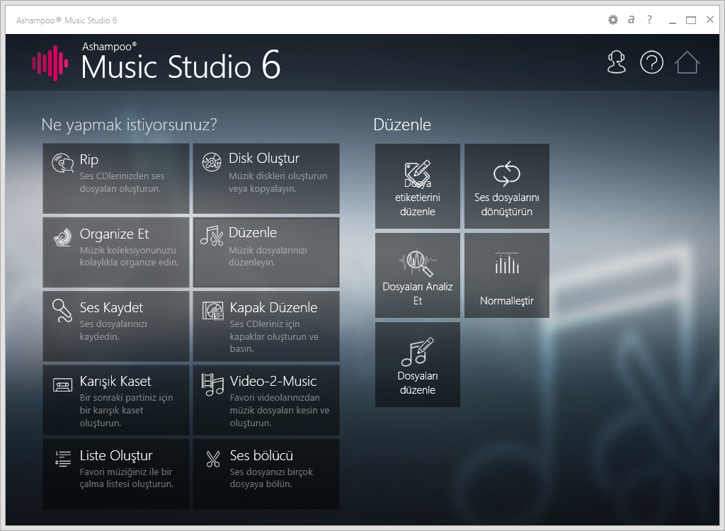 scr ashampoo music studio 6 homescreen - Ashampoo Music Studio 6 ( 10 Hediye Lisans ) ( Sona Erdi )