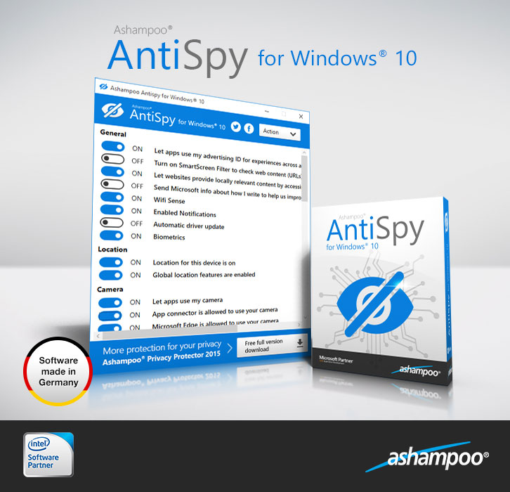 AntiSpy for Windows 10 Screenshot