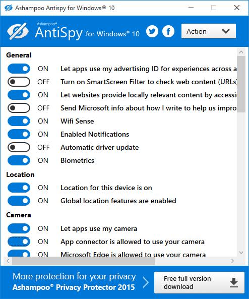 scr ashampoo antispy for windows 10 - Ashampoo AntiSpy ( Ücretsiz )
