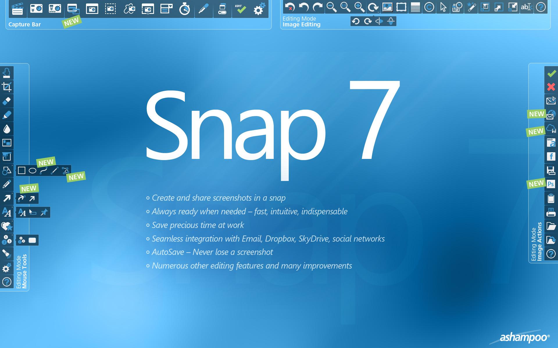 免费获取截图工具 Ashampoo Snap 7丨反斗限免