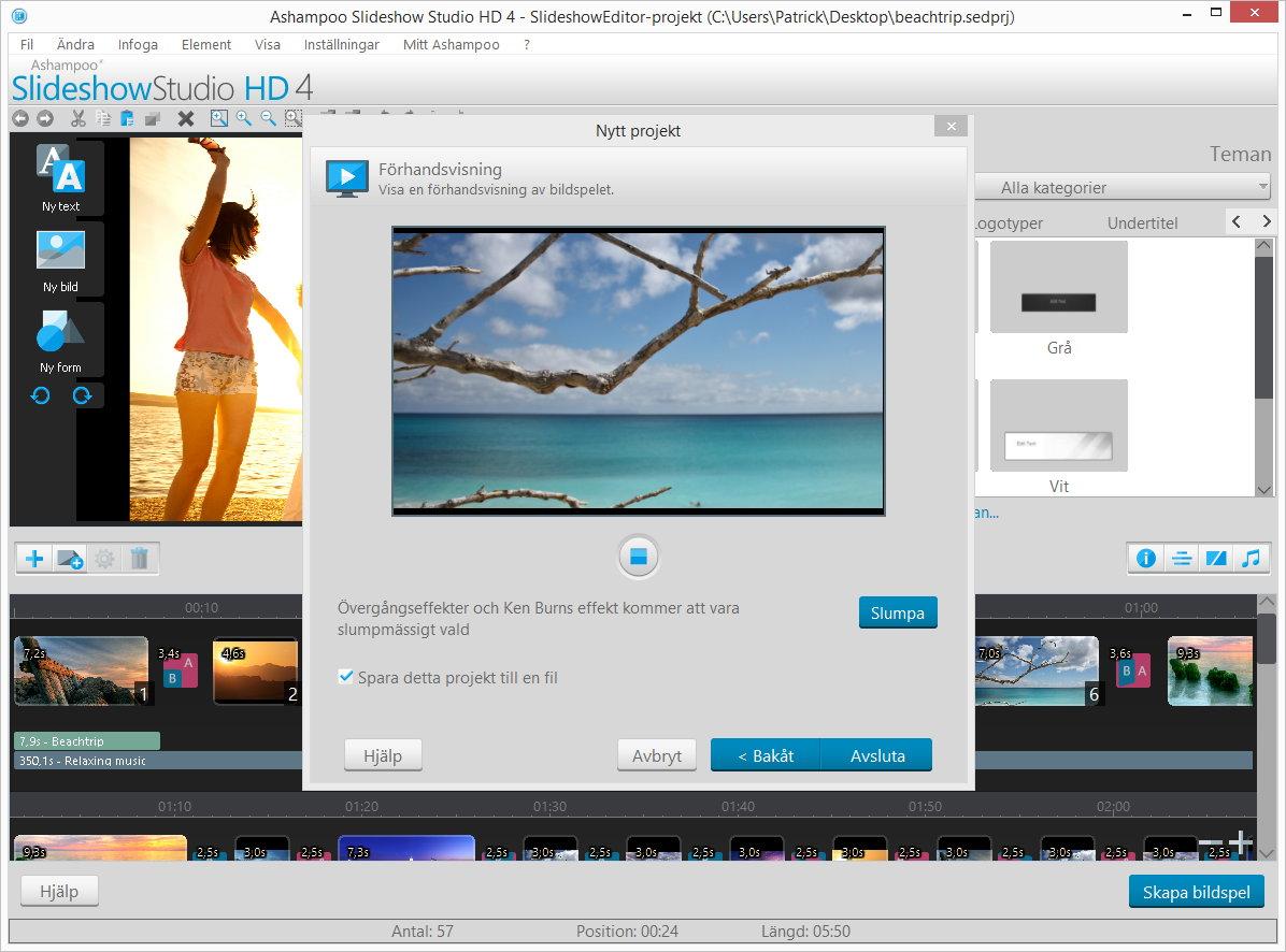 Ashampoo® Slideshow Studio HD 4 - Skärmbilder