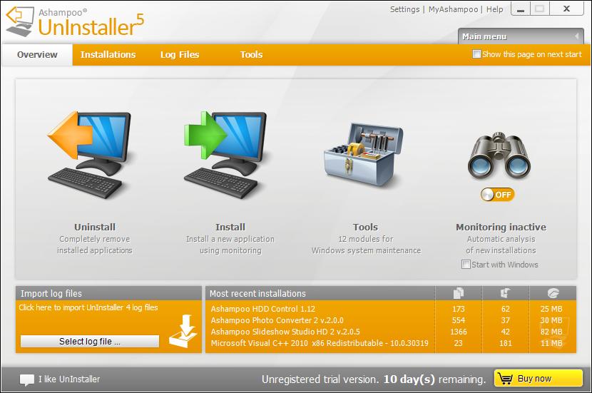 Ashampoo UnInstaller 5 – 软件卸载及 Windows 清理工具丨反斗限免