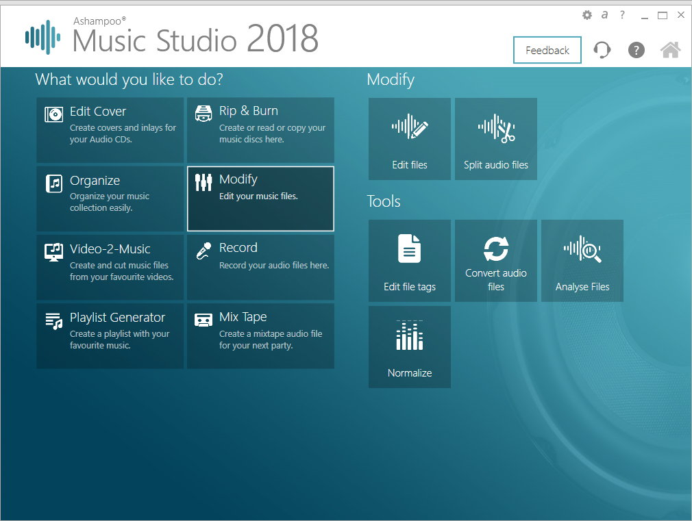 Ashampoo Music Studio 7 screenshot