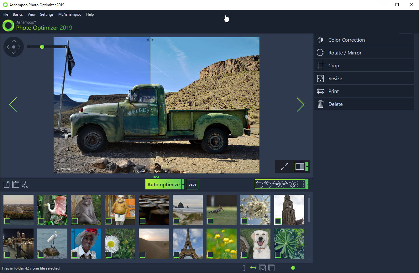 Ashampoo Photo Optimizer 2019 screenshot