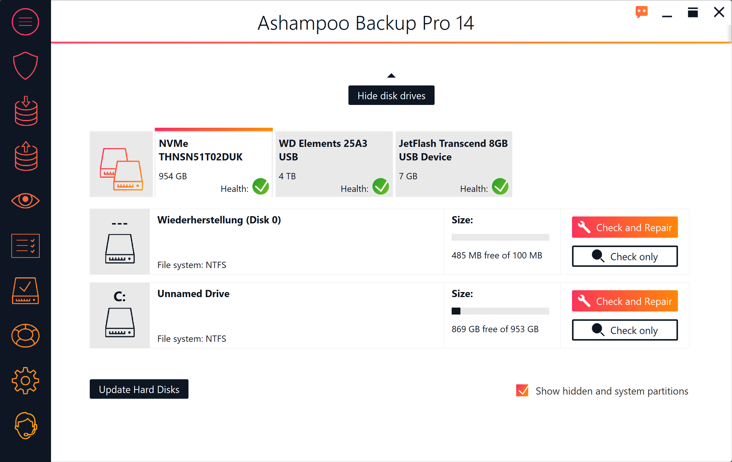 Ashampoo Backup Pro 14 screenshot