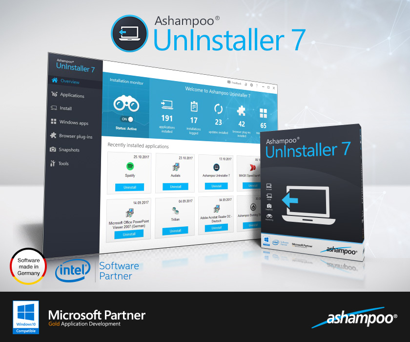 Ashampoo UnInstaller 7.00.10 (2017) PC | RePack / Portable [ENG + RUS, 2017]