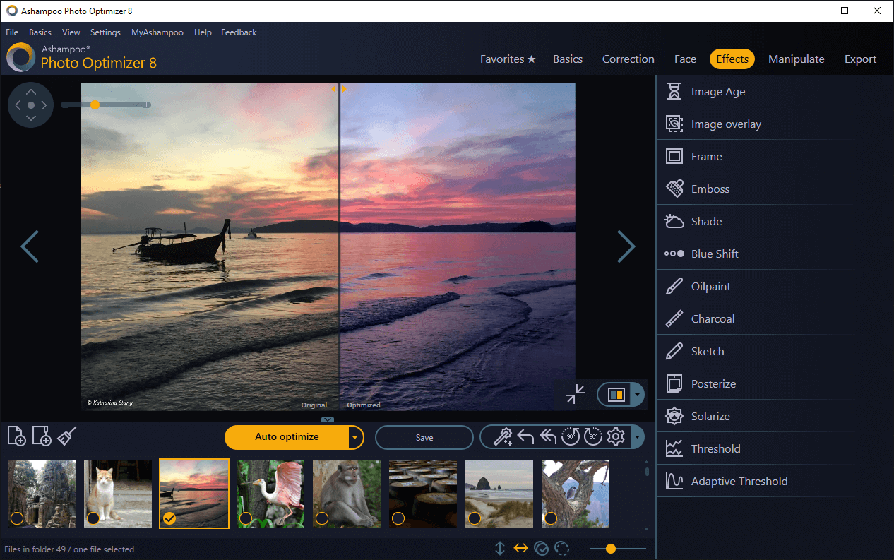 Ashampoo Photo Optimizer 8 screenshot