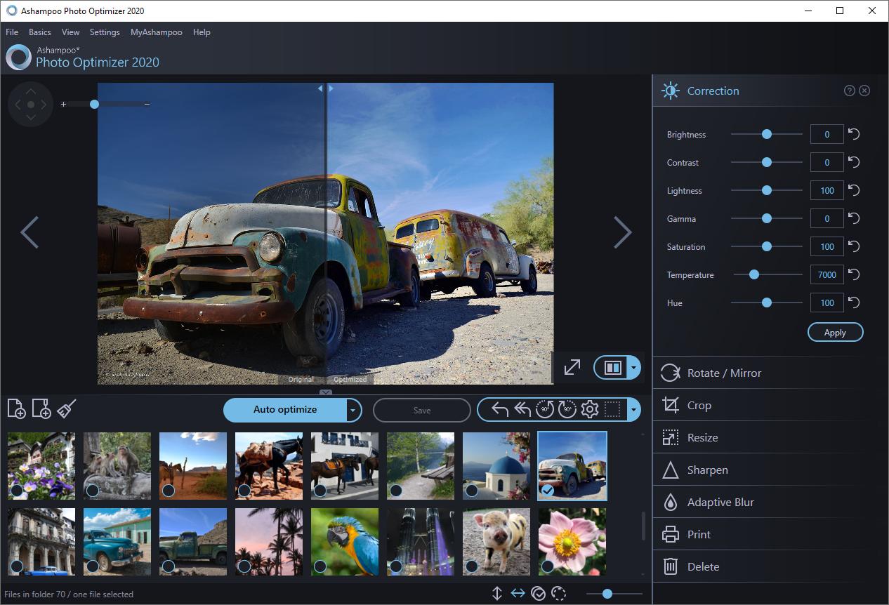 Ashampoo Photo Optimizer 2019 screenshot