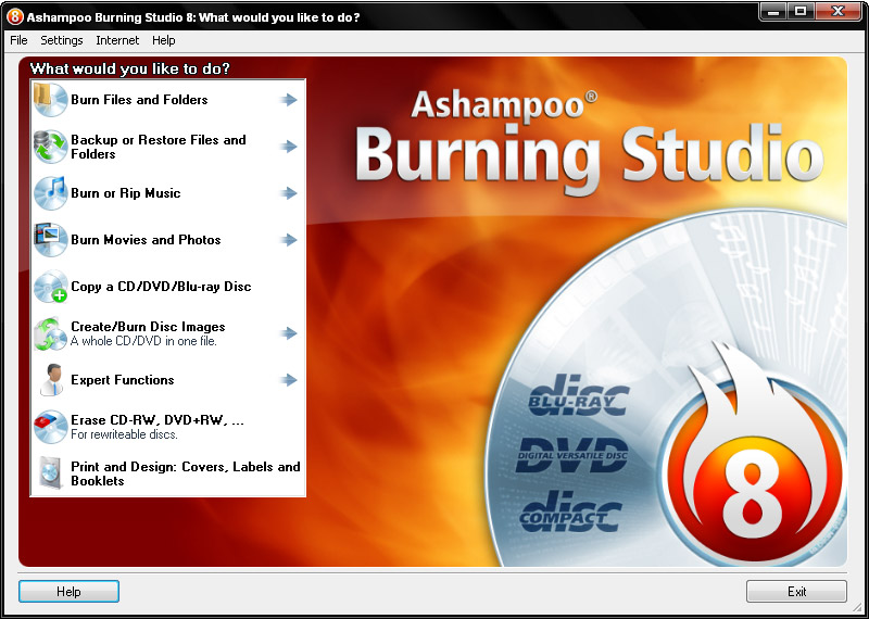 The complete, compact and easy burning suite