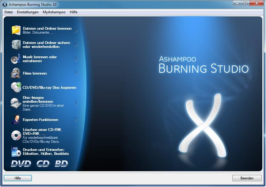 برنامج حرق الملفات العملاق Ashampoo Burning Studio 10.0.1