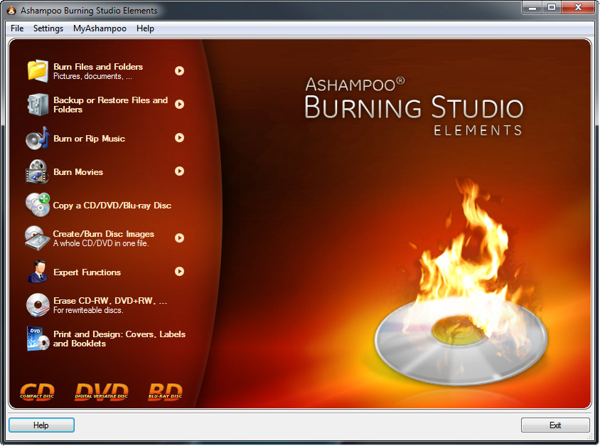 AshampooBurning Studio Elements