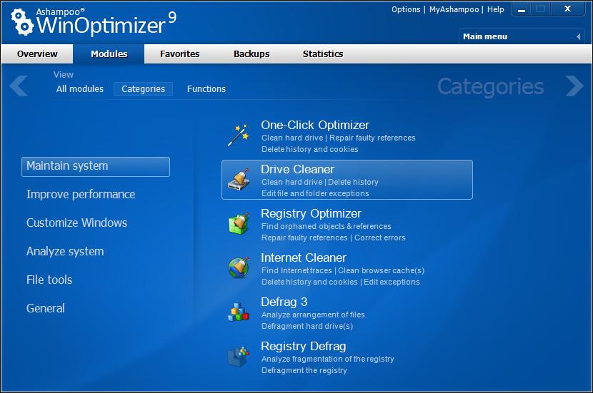 scr ashampoo winoptimizer 9 en classic - Ashampoo Win Optimizer 9 (1 Yıllık)