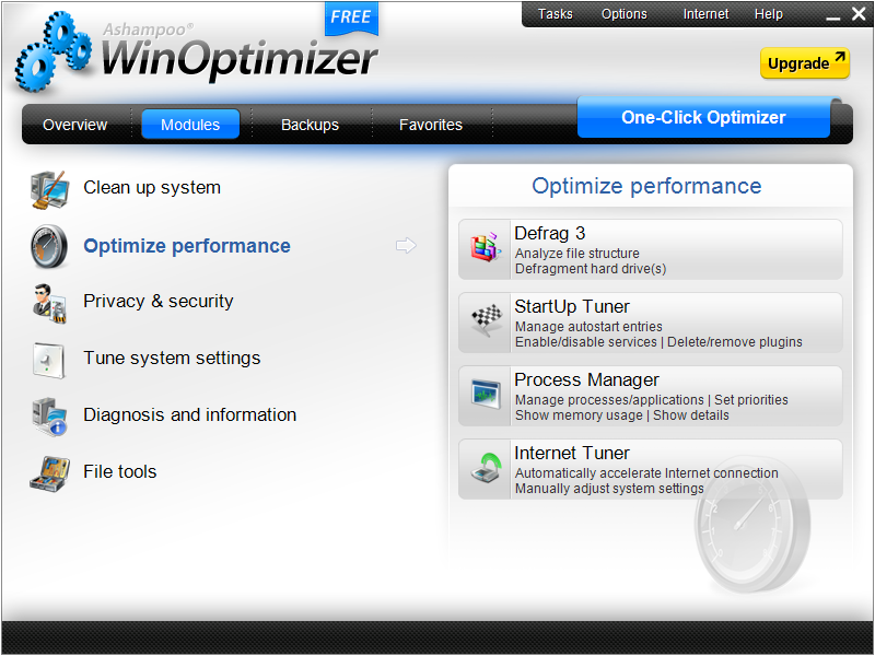 Ashampoo WinOptimizer FREE full screenshot