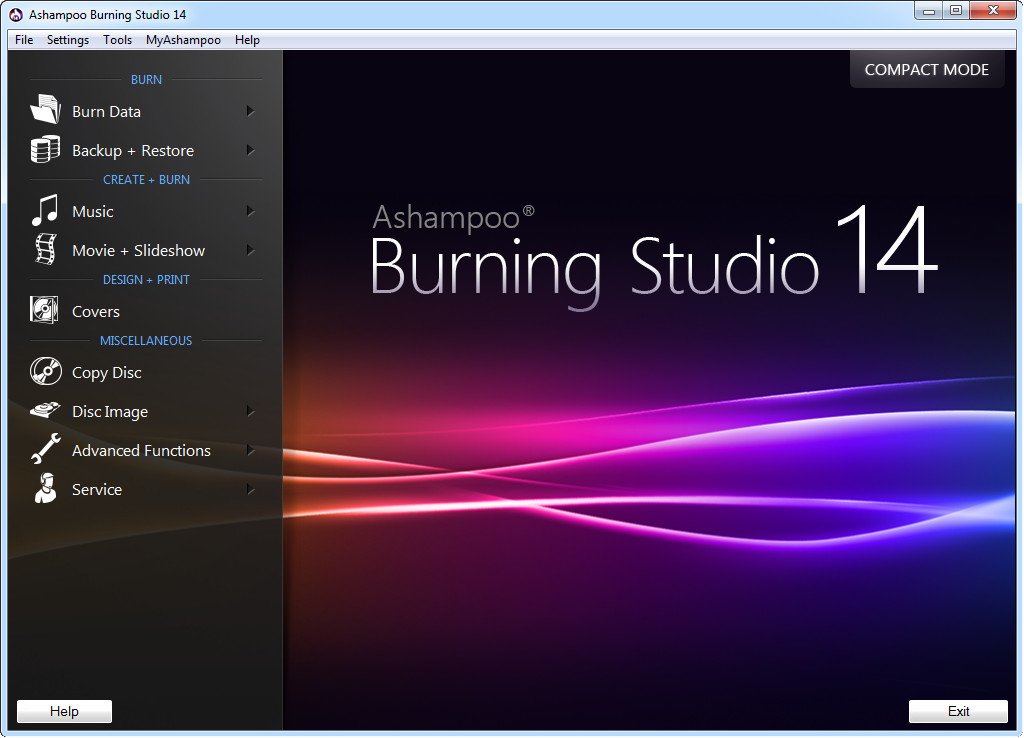 Click to view Ashampoo Burning Studio 14.0.9 screenshot