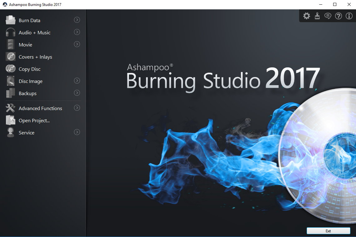 ashampoo burning studio 2017 screenshot