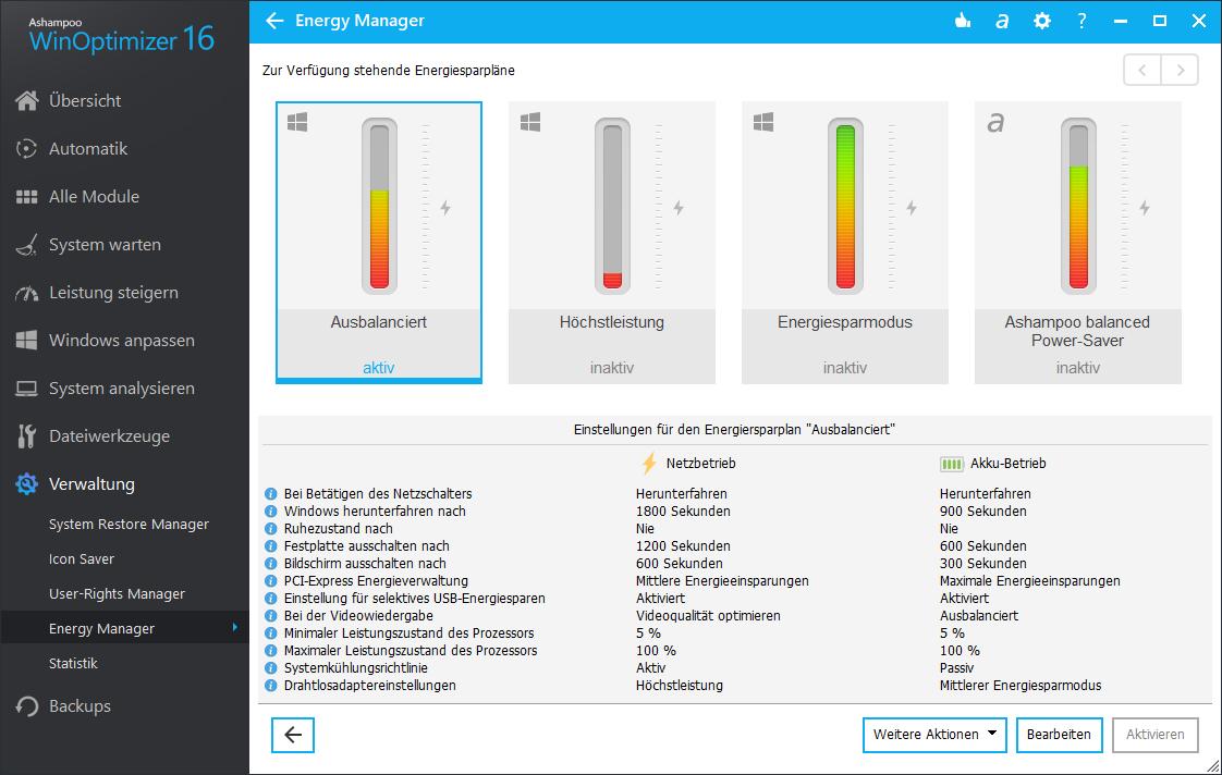 Screenshot WinOptimizer Power