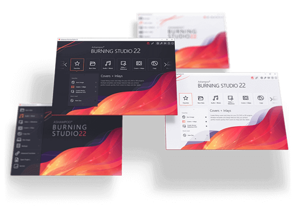 Ashampoo® Burning Studio 22 graphical user interface