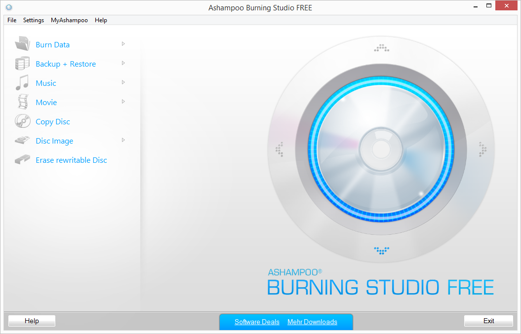 Ashampoo Burning Studio FREE freeware screenshot