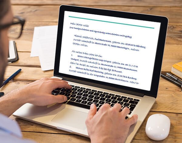 Das große Vorsorgepaket - Screenshot Notebook