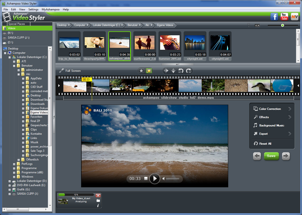 Create video notebook: a look at ashampoo video styler.