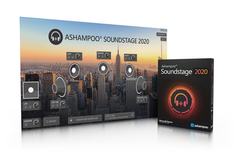 Screenshot Ashampoo® Soundstage 2020